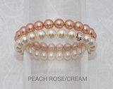 Shiny Peach Rose/Cream