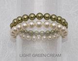 Shiny Light Green/Cream