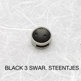 Black 3 swar.steentjes