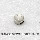 Bianco 3 swar.steentjes